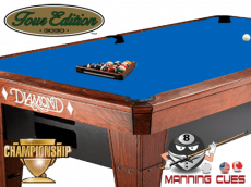 Championship Tour Edition Cloth Electric Blue - Electric blue pool table
