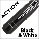 Action Black and White Pool Cues