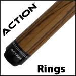 Action Rings Pool Cues