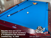 DIAMOND 8' PROFESSIONAL OAK ROSEWOOD - JOHNSON FROM SOUTH CAROLINA - IN AUG 16, 2020