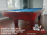 DIAMOND 8' PROFESSIONAL MAPLE ROSEWOOD - RUSSELL FROM TEXAS - INSTALLED SEPT 7, 2020