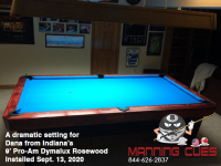 DIAMOND 9' PRO-AM DYMALUX ROSEWOOD - DANA FROM INDIANA - INSTALLED SEPTEMBER 13, 2020