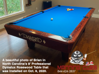 DIAMOND 9' PROFESSIONAL DYMALUX ROSEWOOD - BRIAN FROM NORTH CAROLINA - INSTALLED OCT 9, 2020