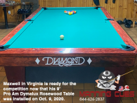 DIAMOND 9' PRO-AM DYMALUX ROSEWOOD - MAXWELL FROM VIRGINIA, INSTALLED OCT 9, 2020