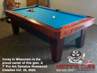 DIAMOND 7' PRO-AM DYMALUX ROSEWOOD - COREY FROM WISCONSIN - INSTALLED OCTOBER 25, 2020