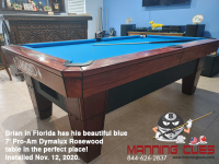 DIAMOND 7' PRO-AM DYMALUX ROSEWOOD - BRIAN FROM FLORIDA - INSTALLED NOVEMBER 12, 2020