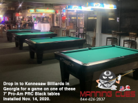 4 X DIAMOND 7' PRO-AM PRC BLACK - KENNESAW BILLIARDS FROM GEORGIA - INSTALLED NOVEMBER 14, 2020