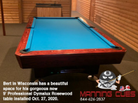 DIAMOND 9' PROFESSIONAL DYMALUX ROSEWOOD - BERT FROM WISCONSIN - INSTALLED OCTOBER 27, 2020