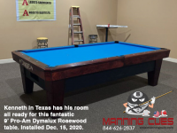 DIAMOND 9' PRO-AM DYMALUX ROSEWOOD - KENNETH FROM TEXAS - INSTALLED DECEMBER 15, 2020