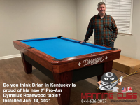 DIAMOND 7' PRO-AM DYMALUX ROSEWOOD - BRIAN FROM KENTUCKY - INSTALLED JANUARY 14, 2021