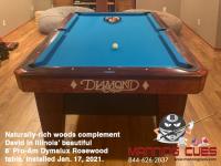 DIAMOND 8' PRO-AM DYMALUX ROSEWOOD - DAVID FROM ILLINOIS - INSTALLED JAN 17, 2021
