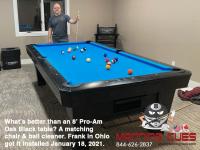 DIAMOND 8' PRO-AM OAK BLACK - FRANK FROM OHIO - INSTALLED JAN 18, 2021