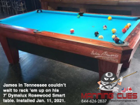 DIAMOND 7' SMART TABLE IN DYMALUX ROSEWOOD - JAMES FROM TENNESSEE - INSTALLED JAN 11, 2021