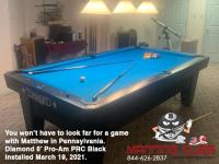DIAMOND 8' PRO-AM PRC BLACK - MATTHEW FROM PENNSYLVANIA - INSTALLED MARCH 19, 2021