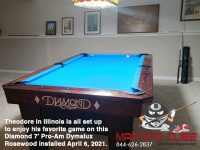 DIAMOND 7' PRO-AM DYMALUX ROSEWOOD - THEODORE FROM ILLINOIS - INSTALLED APRIL 6, 2021 11.34.51 AM