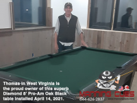 DIAMOND 8' PRO-AM OAK BLACK - THOMAS FROM WEST VIRGINIA - INSTALLED APRIL 14, 2021