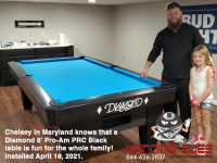 DIAMOND 8' PRO-AM PRC BLACK - CHELSEY FROM MARYLAND - INSTALLED APRIL 19, 2021