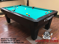 Mitch's 7ft Pro Am Black PRC Table from New York