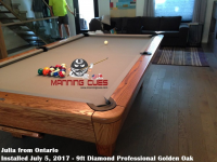 Julia's 9ft Diamond Professional in Golden Oak from Ontario