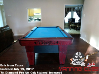 Bris's 7ft Pro AM Rosewood Oak Table from Texas