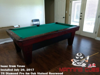 Isaac's 7ft Pro AM Rosewood Oak Table from Texas