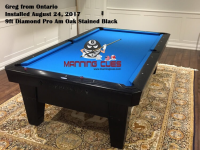 Greg's 9ft Pro Am Oak Stained Black from Ontario