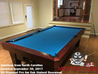 Jonathan's 9ft Pro AM Rosewood Oak Table from North Carolina