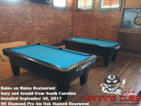 Gary & Arnald's 7ft Pro AM's Black PRC Tables from South Carolina