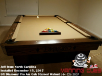 Jeff's 8ft Pro Am Oak stained Walnut from North Carolina