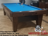 Jorge 's 9ft Pro Am Table from New Jersey