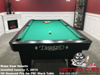 Brian's 8ft Pro Am Black PRC Table from Ontario