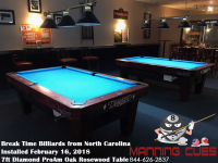 Break Time Billiards 7ft Pro Ams Oak stained Rosewood from North Carolina