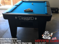 Brian's 7ft Pro Am Black PRC Table from Alabama