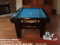 Daniel's 7ft Pro Am Black PRC Table from Alabama