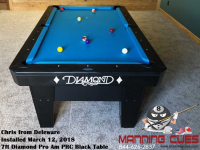 Chris's 7ft Pro Am Black PRC Table from Delaware