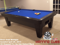 Bruce's 8ft Pro AM Oak Black Table from Michigan