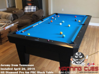 Jeremy's 8ft Pro AM PRC Black Table from Tennessee
