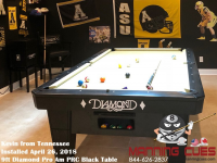 Kevin's 9ft Pro Am PRC Black Table from Tennessee