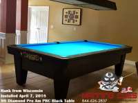 Hank's 9ft Pro Am Black PRC Table from Wisconsin