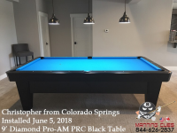 Christopher's 9' Pro AM PRC Black Table from Colorado