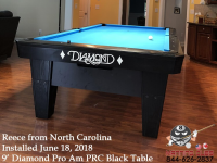 Reece's 9' Pro AM PRC Black Table from North Carolina