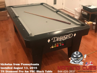 Nicolas's 7' Pro AM Black PRC Table