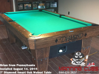 Brian's 7' Pro AM Oak Walnut Table