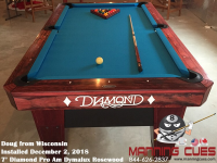 Doug's 7' Pro Am Dymalux Rosewood Table from Wisconsin