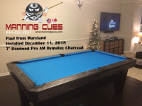 Paul's 7' Pro Am Dymalux Charcoal Table from Maryland