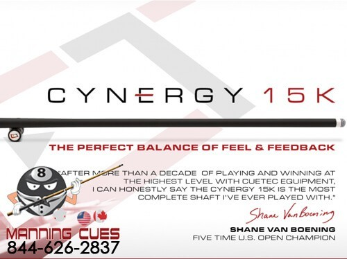 Cuetec Cynergy 15K Carbon Fiber Shaft 5/16 x 14 Thread
