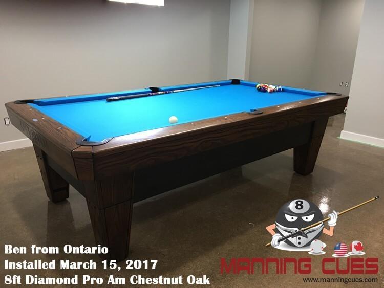Diamond Pro Am Pool Table