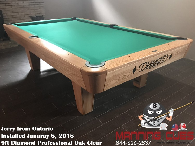 Diamond Professional Pool Table - Clear pool table