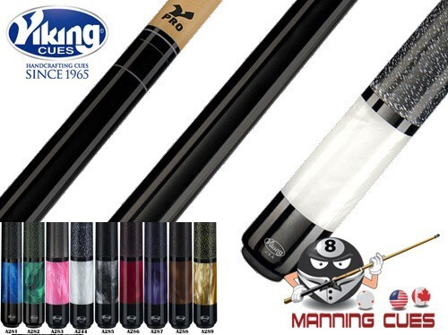 Viking Pearl Sleeve Linen Wrap V-Pro Pool Cues - 9 Colors
