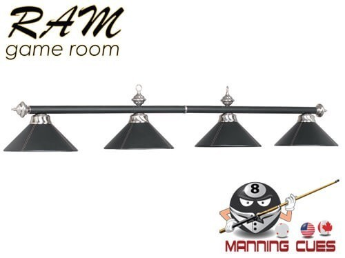 The look of black leather metal 4 light fixture